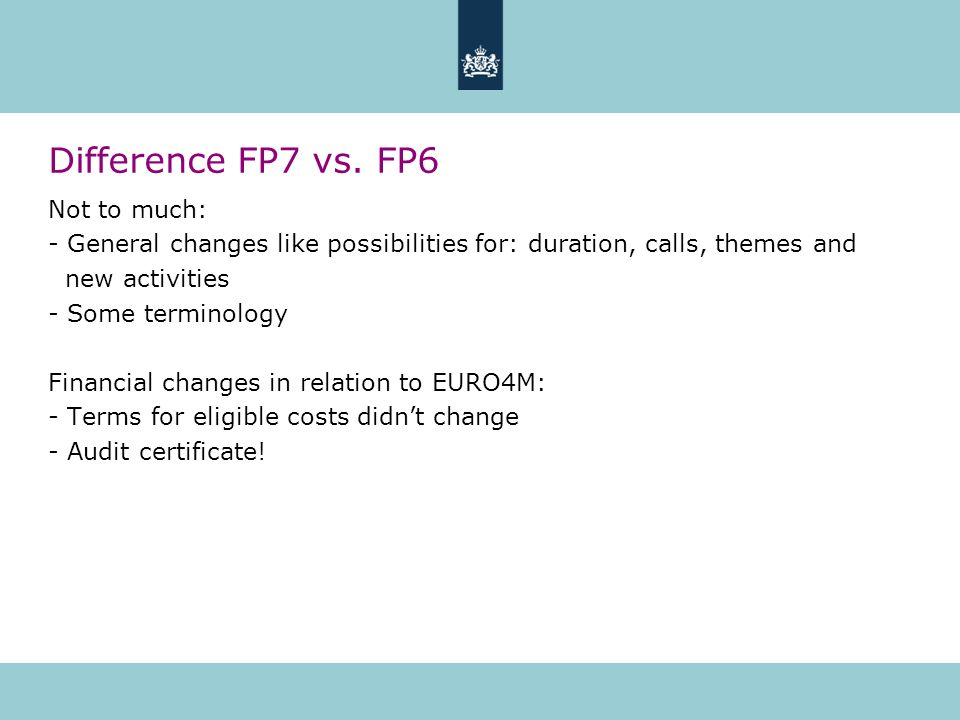 Difference FP7 vs.