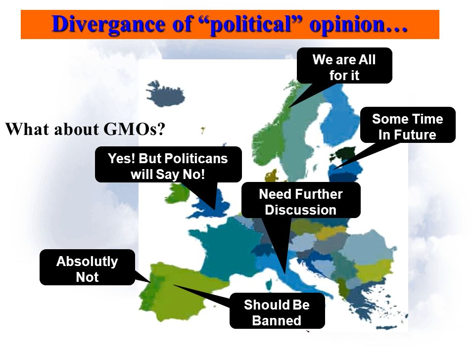 Divergance of political opinion… What about GMOs.