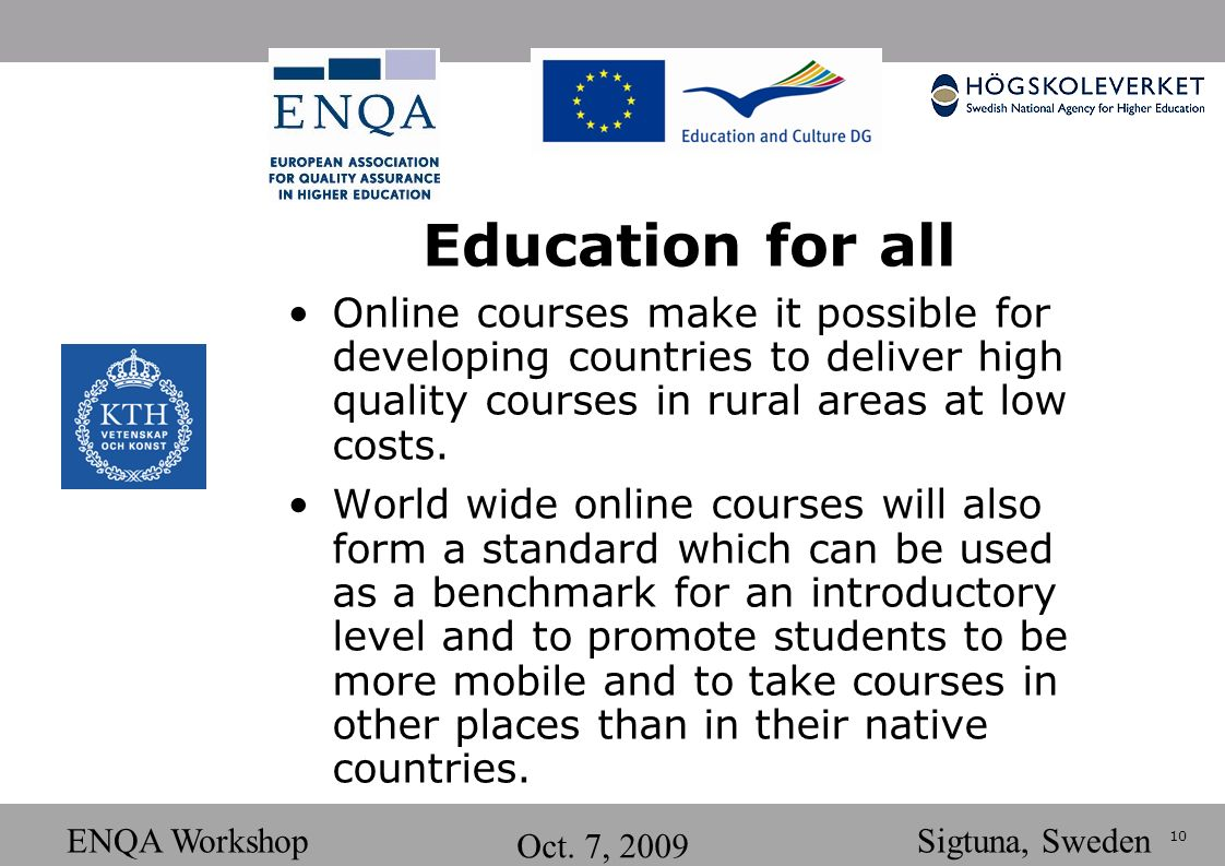 10 ENQA Workshop Oct.