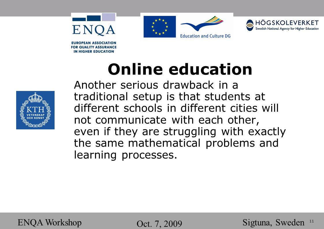 11 ENQA Workshop Oct.