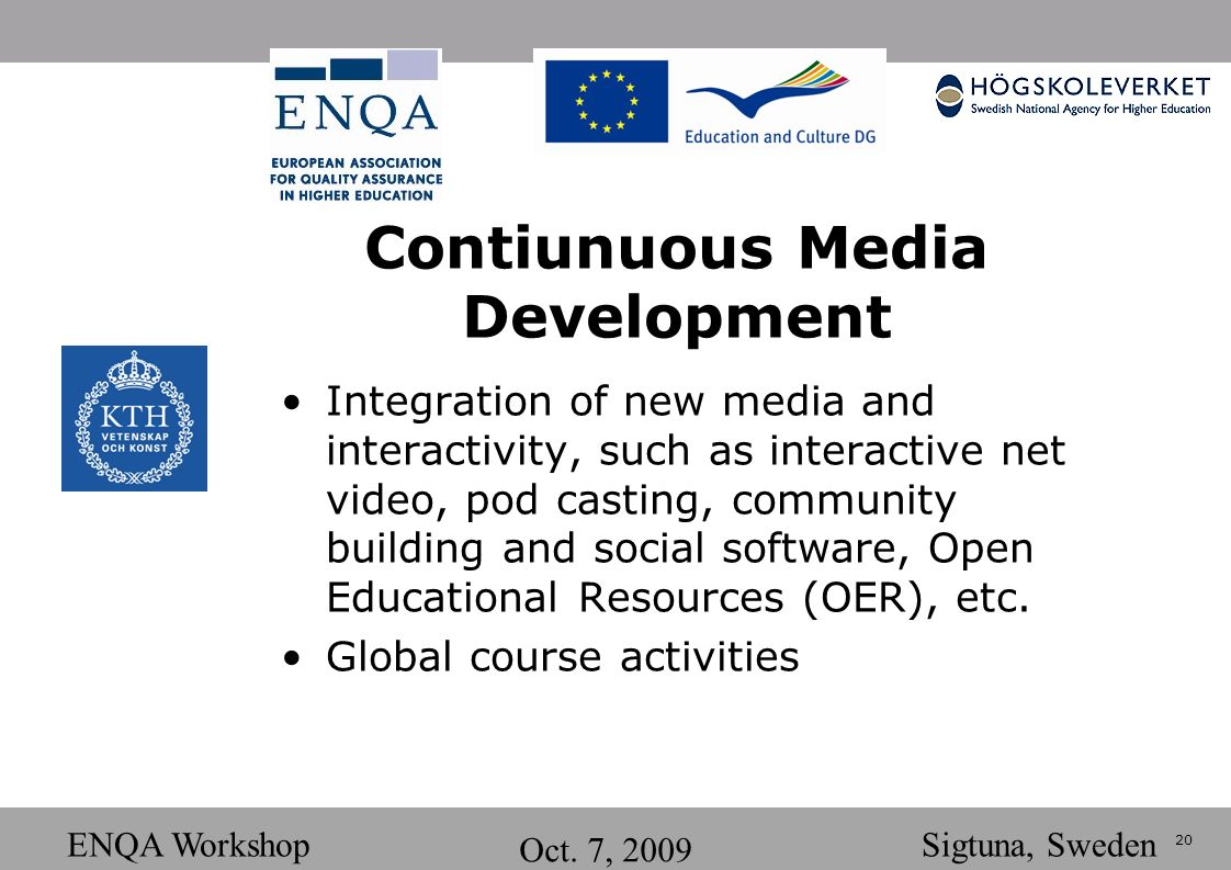 20 ENQA Workshop Oct.