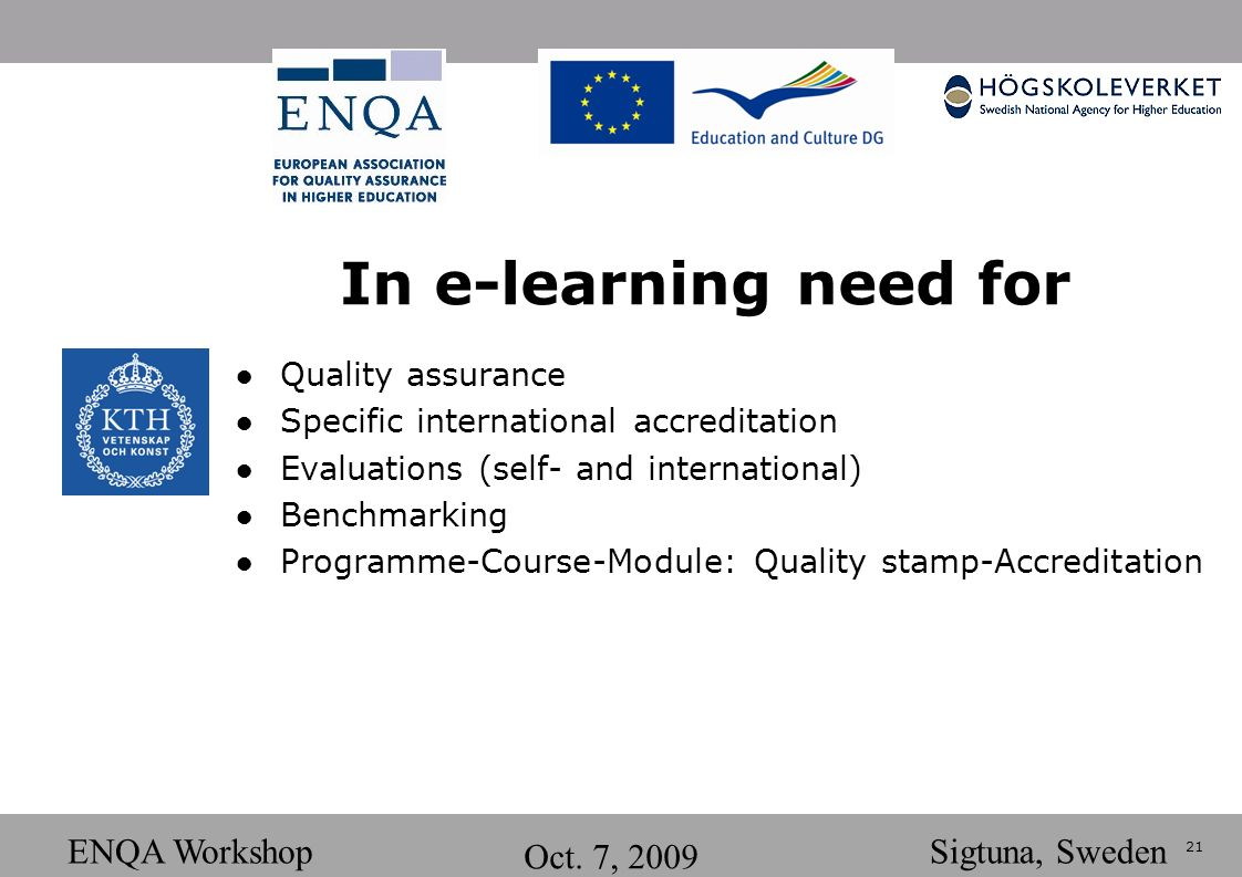 21 ENQA Workshop Oct.