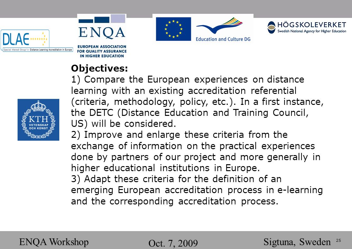 25 ENQA Workshop Oct.