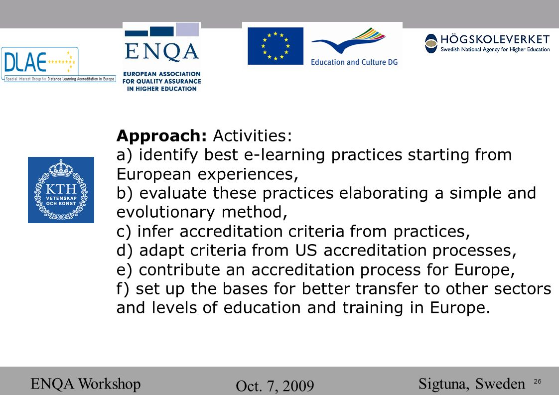 26 ENQA Workshop Oct.