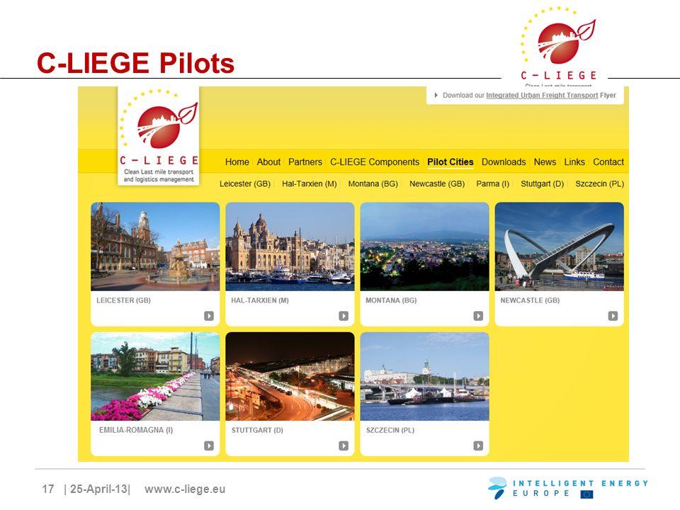 17 | 25-April-13| www.c-liege.eu C-LIEGE Pilots