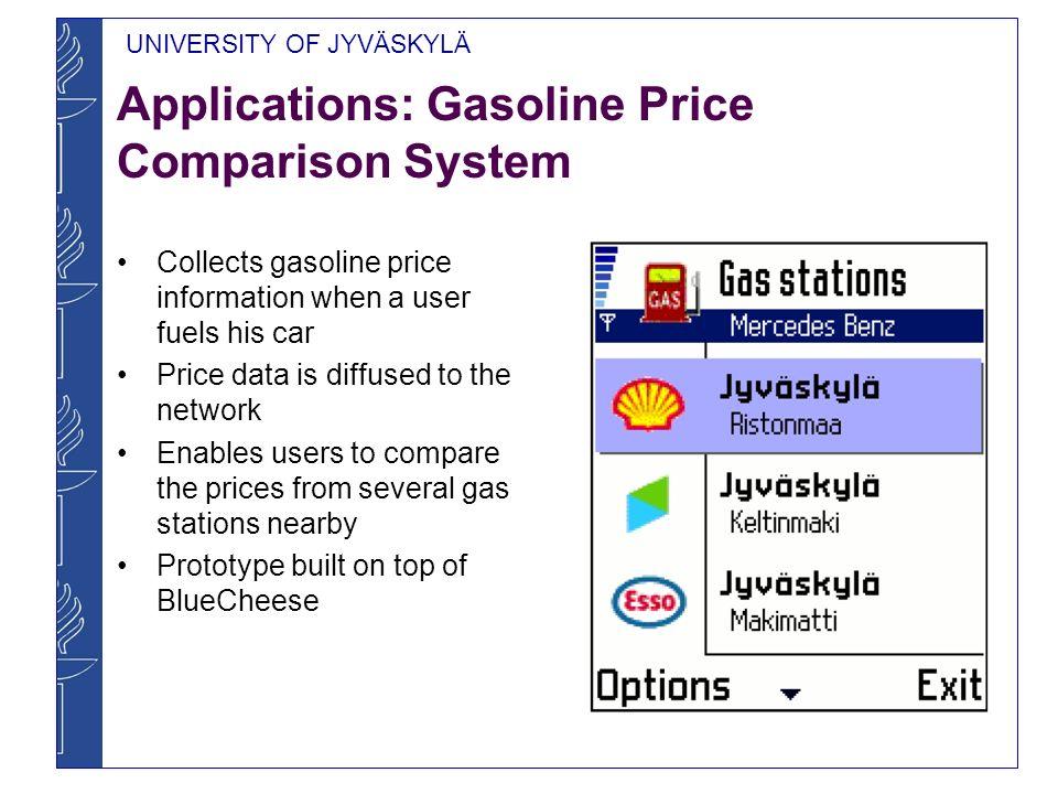 UNIVERSITY OF JYVÄSKYLÄ Other Application Ideas Other price comparison services Joke Service Event Service Newspaper Service