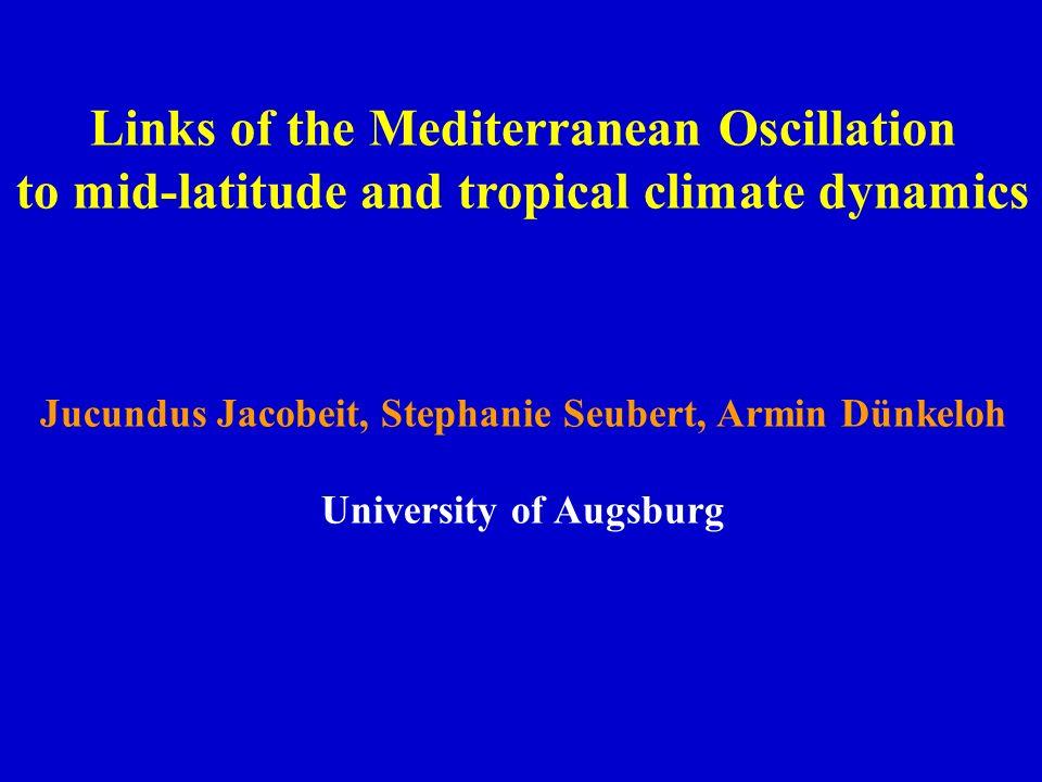 March to November 1951-2000 Domain: 20°S – 70°N, 90°W – 150°E Teleconnection studies (Stephanie Seubert ):