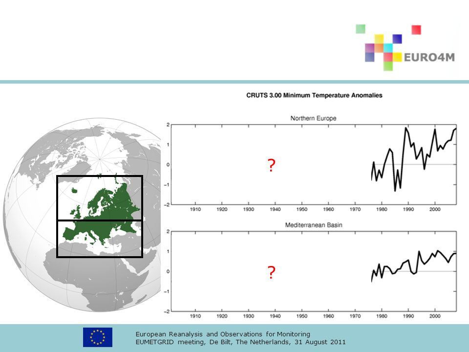 European Reanalysis and Observations for Monitoring EUMETGRID meeting, De Bilt, The Netherlands, 31 August 2011 .