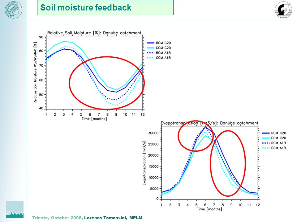 Trieste, October 2008, Lorenzo Tomassini, MPI-M Soil moisture feedback