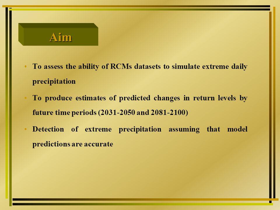 Spatial distribution of maximum annual precipitation Max Min Mean