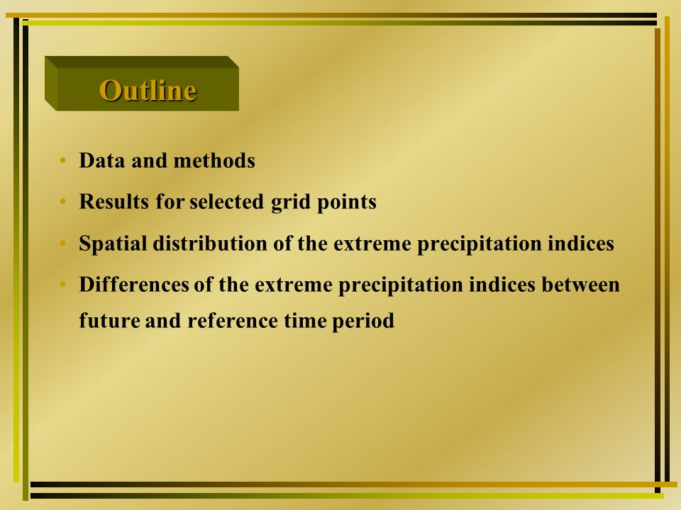 Differences of the extreme precipitation indices between the two time period (2031-2050 & 2081-2100) and the reference period (1951-2000) KNMI-Bayes