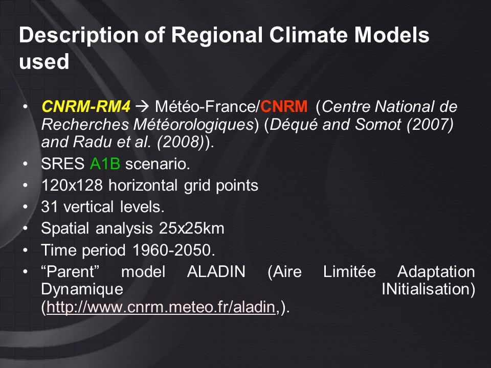 Trend analysis of Climate Indices Trends of TQN10 for winter and spring for the three models.