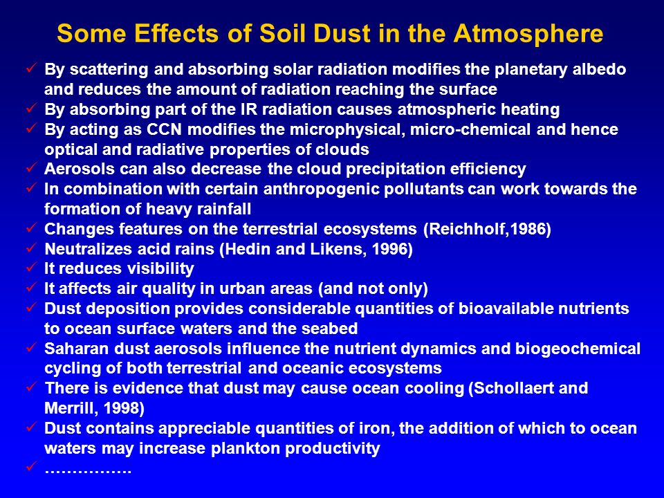 Aerosol effects on precipitation (Rosenfeld, 2008) Aerosol concentration Dry unstable situation Maritime & moderate (wet) continental clouds Accumulated rain