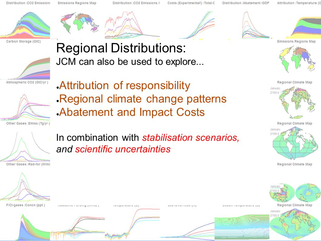 matthews@climate.bematthews@climate.be vanyp@climate.be jcm.chooseclimate.org Regional Distributions: JCM can also be used to explore... Attribution o
