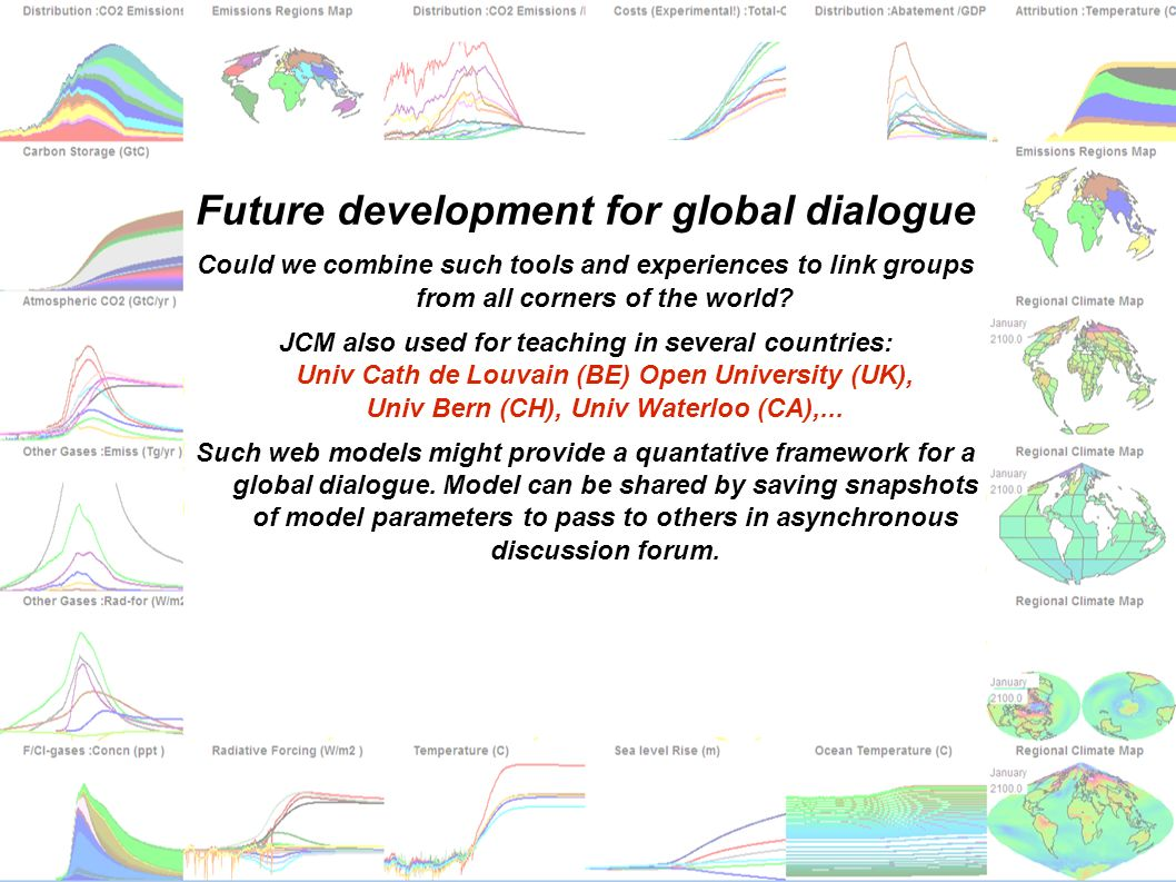 matthews@climate.bematthews@climate.be vanyp@climate.be jcm.chooseclimate.org Future development for global dialogue Could we combine such tools and e