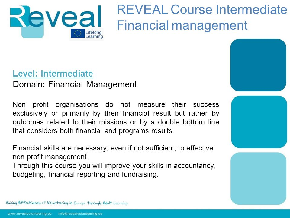 Level: Intermediate Domain: Financial Management Non profit organisations do not measure their success exclusively or primarily by their financial result but rather by outcomes related to their missions or by a double bottom line that considers both financial and programs results.