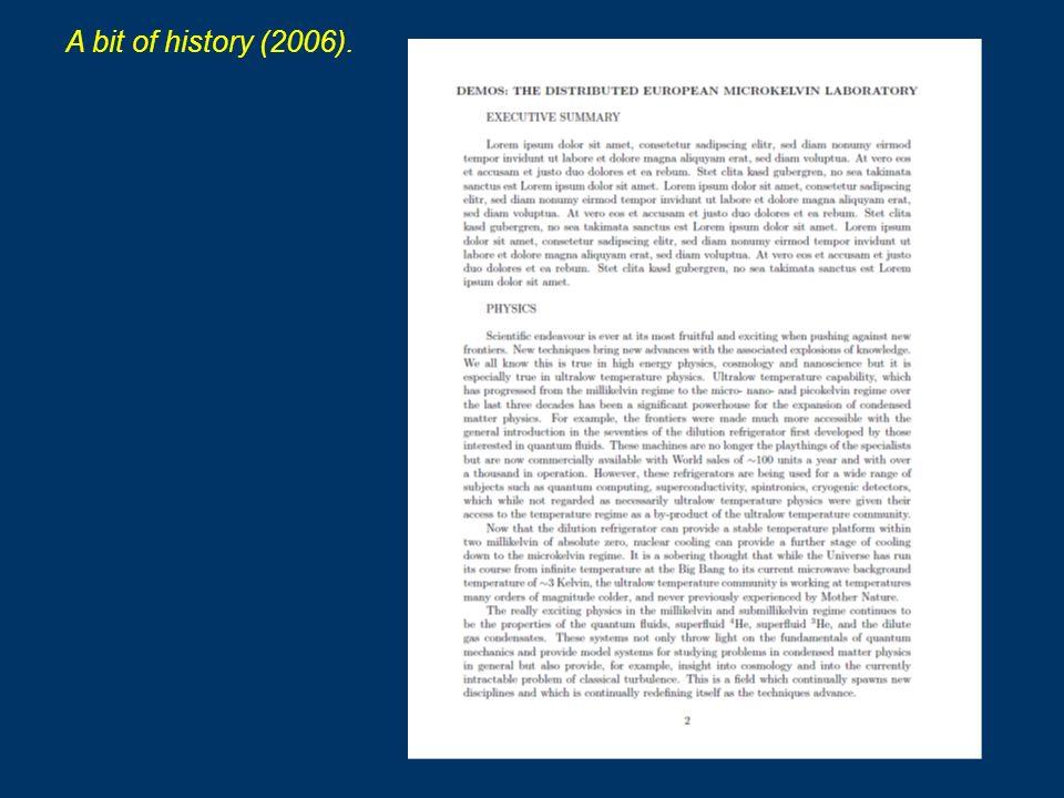 A bit of history (2006).