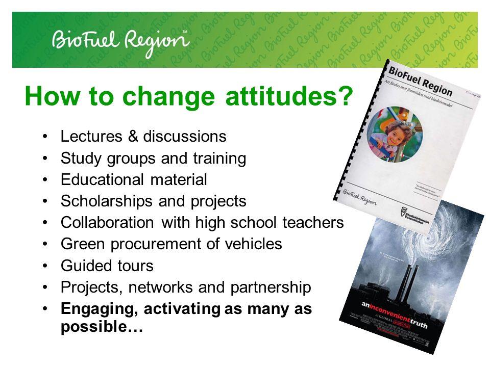 How to change attitudes.