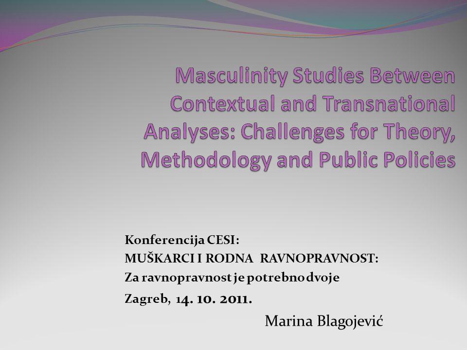 Konferencija CESI: MUŠKARCI I RODNA RAVNOPRAVNOST: Za ravnopravnost je potrebno dvoje Zagreb, 1 4.