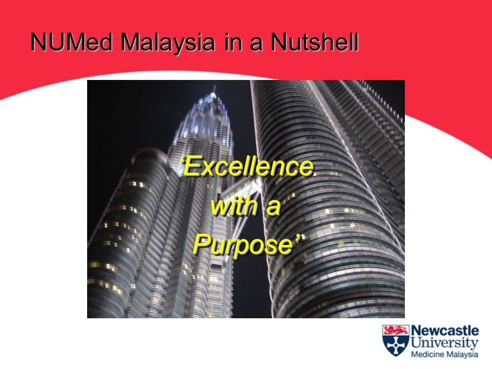 Excellence with a PurposeExcellence Purpose NUMed Malaysia in a Nutshell