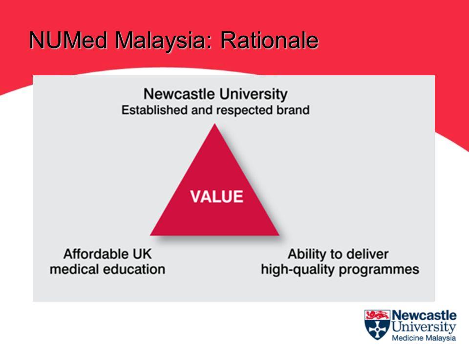 NUMed Malaysia will award Newcastle University degrees in medicine, i.e.