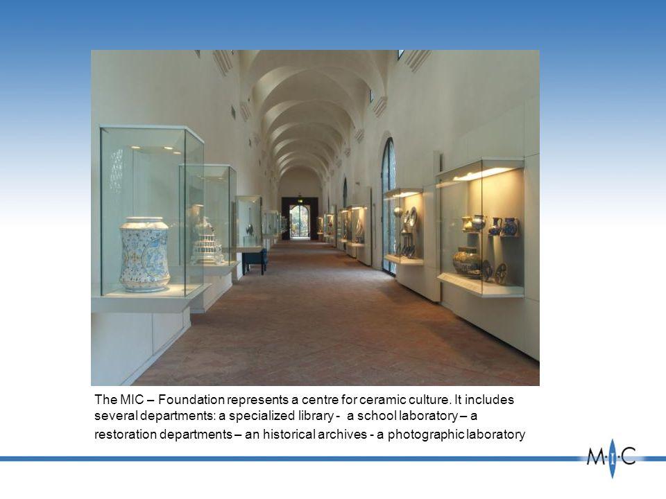 The MIC – Foundation represents a centre for ceramic culture.