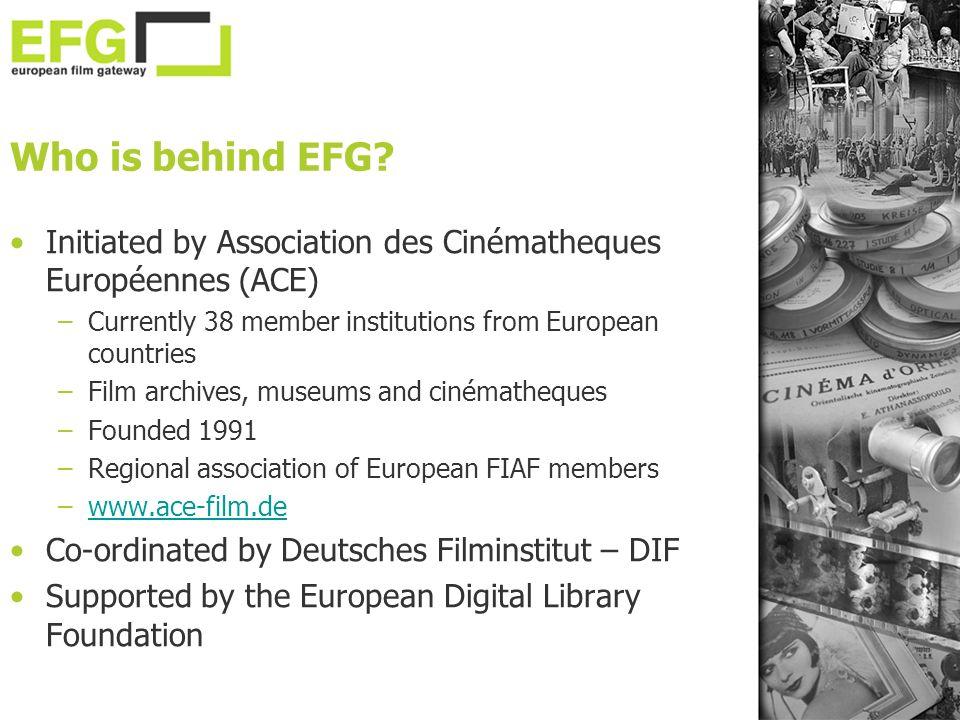 Who is behind EFG.