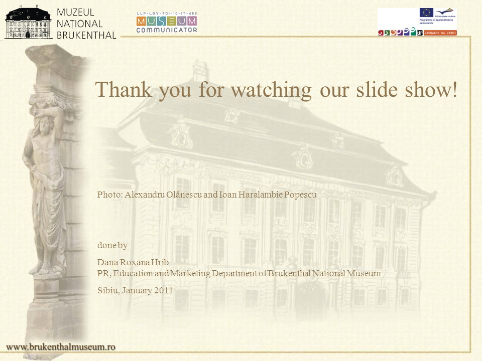 Thank you for watching our slide show.