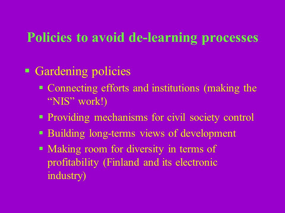 Why are knowledge and innovation policies so weak in real terms.