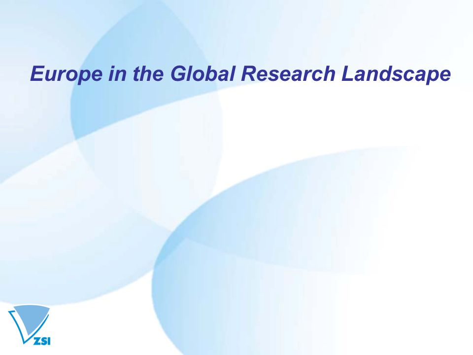 Europe in the Global Research Landscape