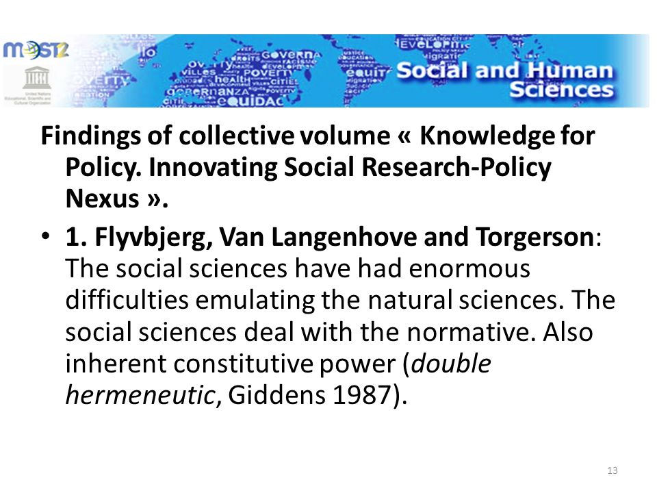 Findings of collective volume « Knowledge for Policy.