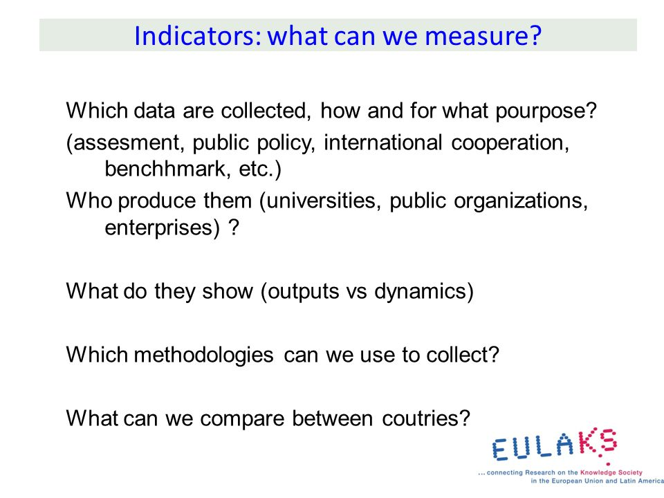 What do indicators measure?