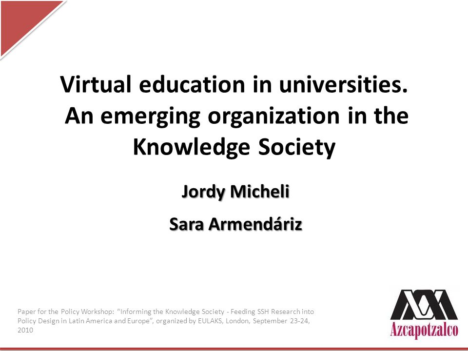 Virtual education in universities.