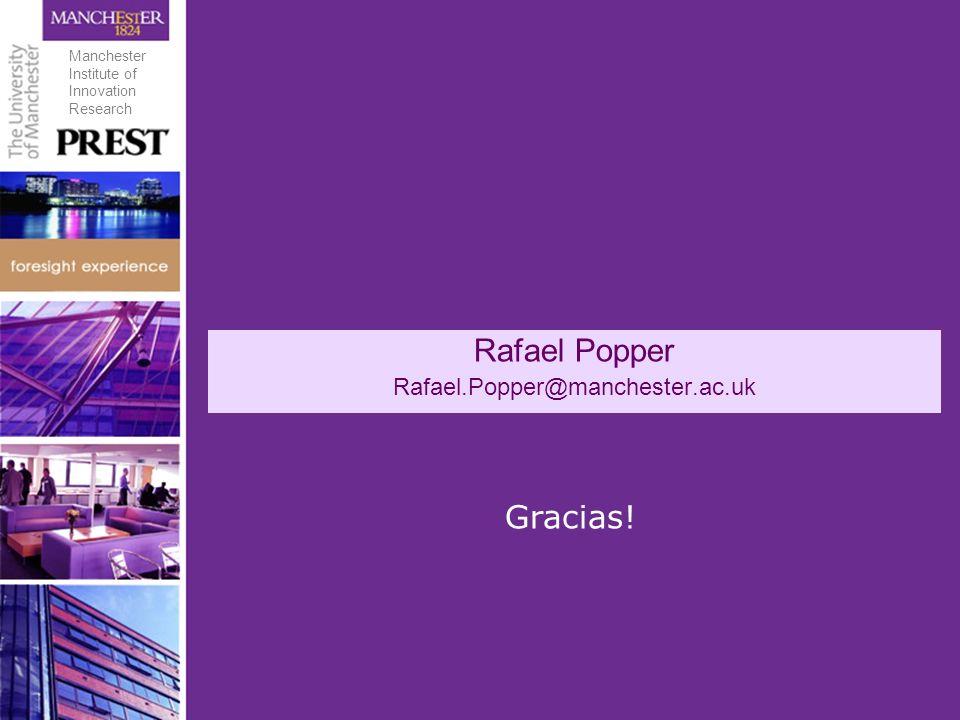 Rafael Popper Rafael.Popper@manchester.ac.uk Gracias! Manchester Institute of Innovation Research