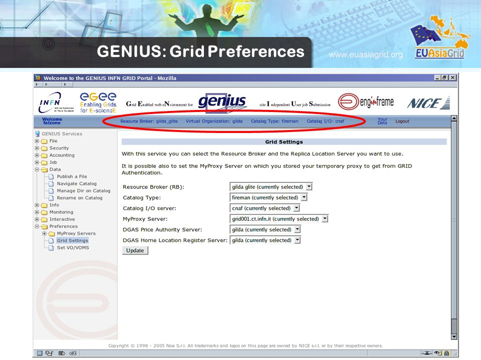 GENIUS: Grid Preferences