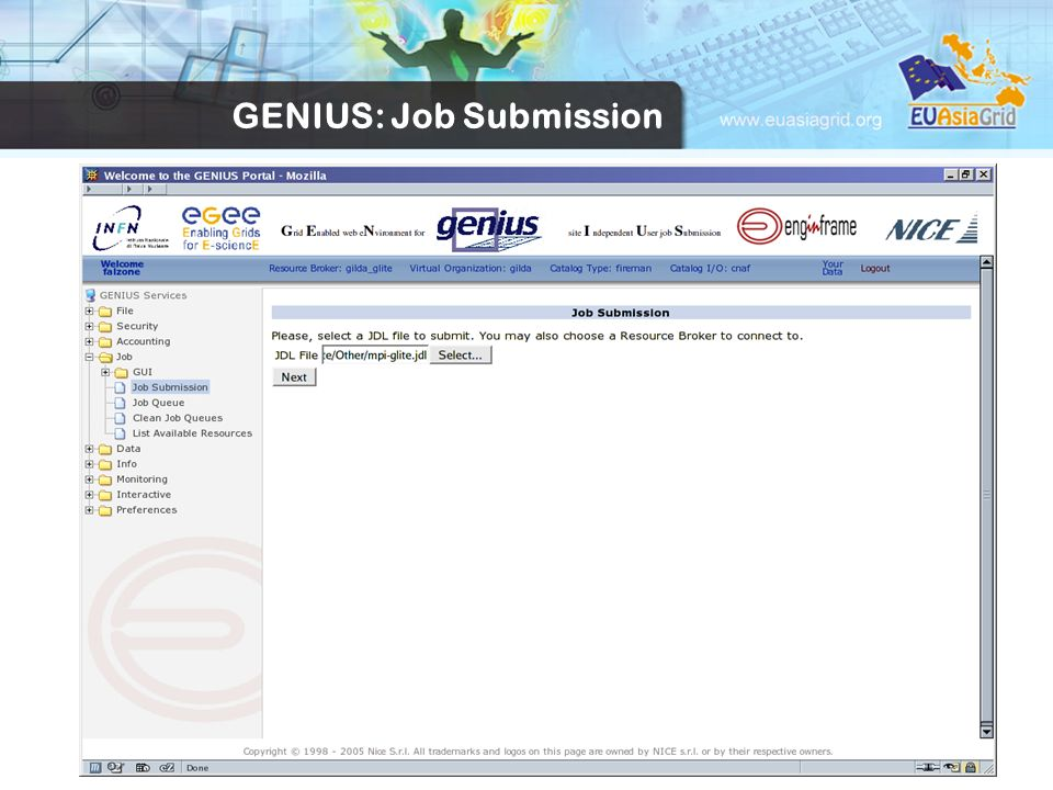 16 GENIUS: Job Submission