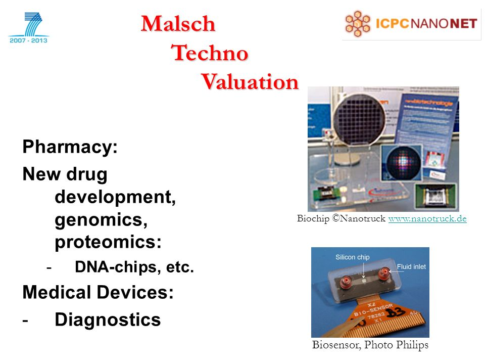 Pharmacy: New drug development, genomics, proteomics: -DNA-chips, etc.