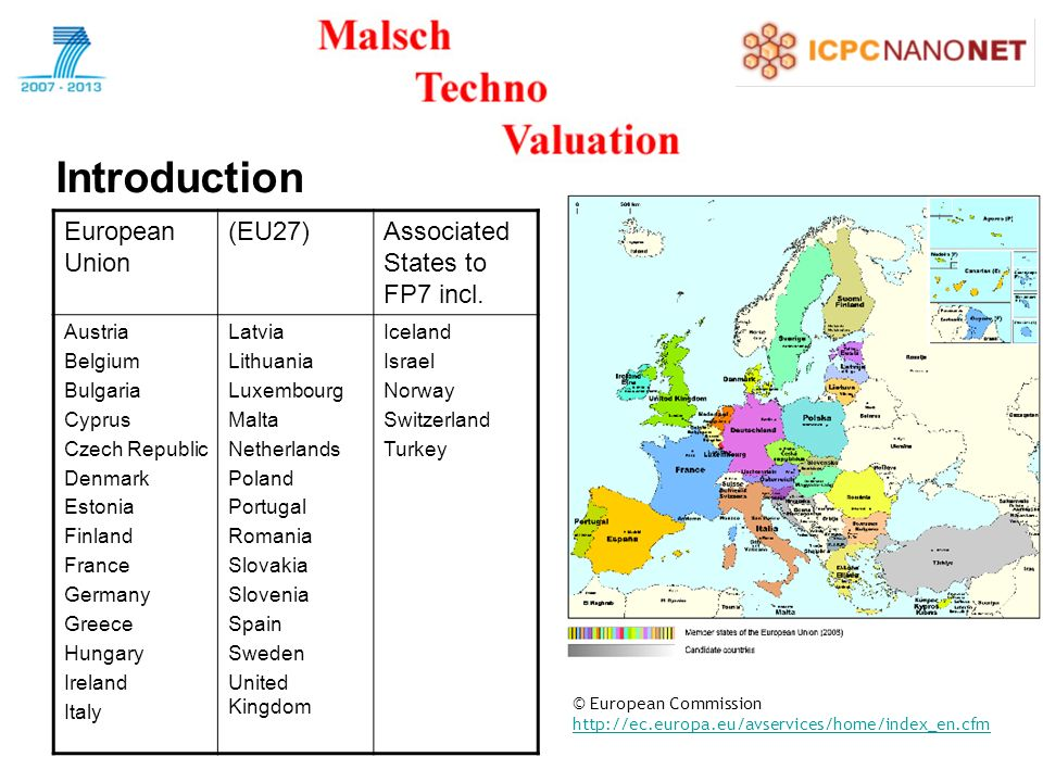 Introduction European Union (EU27)Associated States to FP7 incl.
