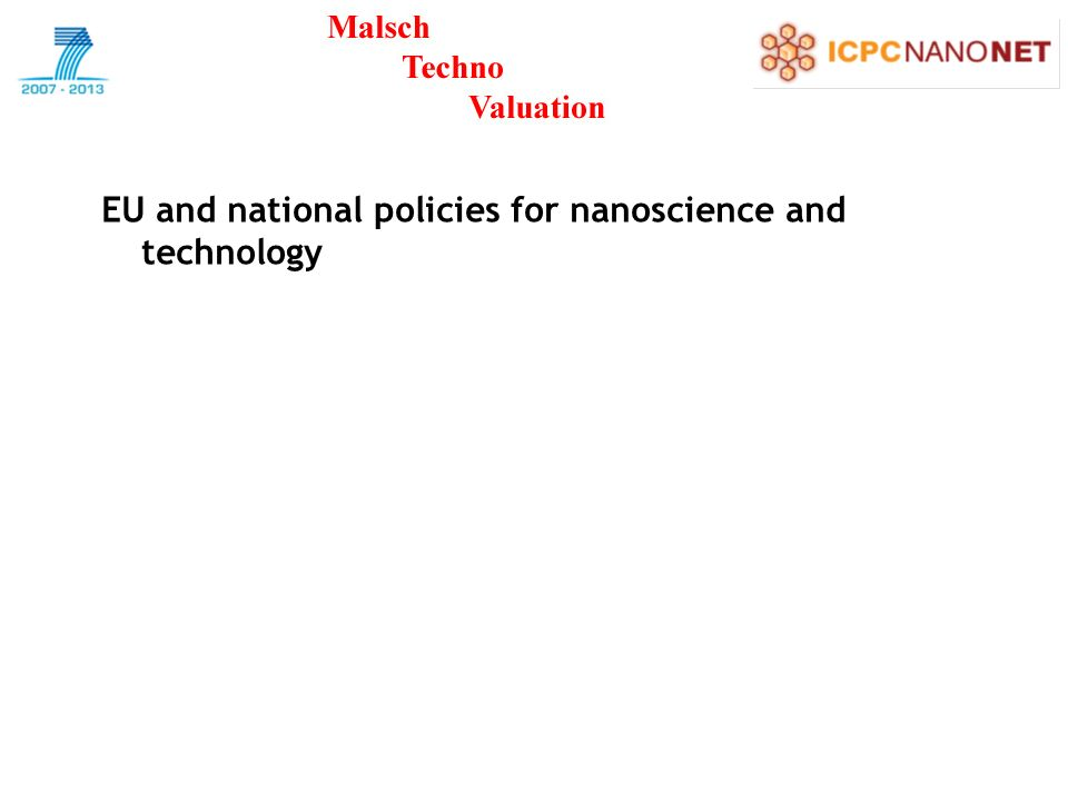 EU and national policies for nanoscience and technology