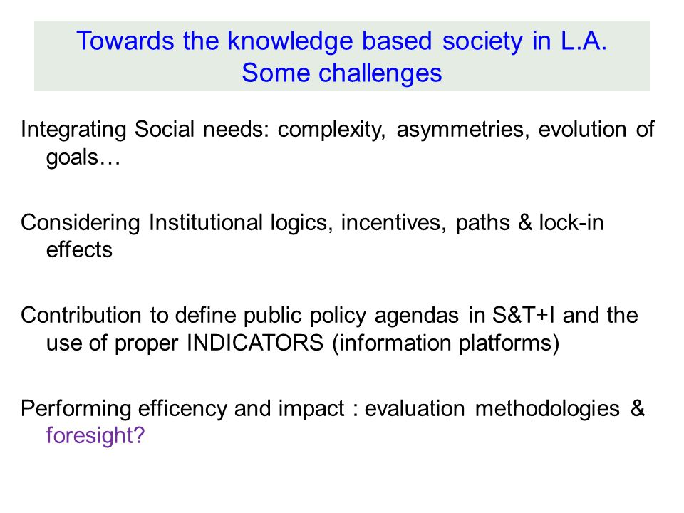 Integrating Social needs: complexity, asymmetries, evolution of goals… Considering Institutional logics, incentives, paths & lock-in effects Contribut