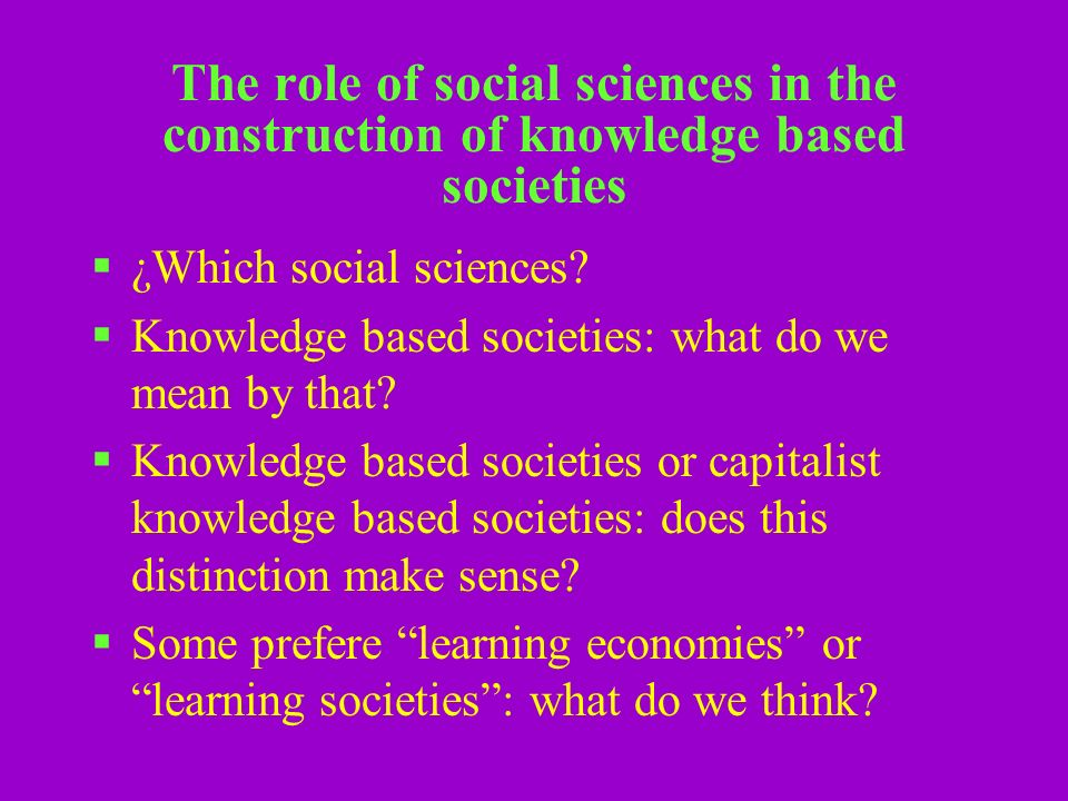 A not so visible trend: the difficulties that developing countries face to use creatively the knowledge and innovation capabilities they have This is a key challenge It is not new It is related to the entire realm of social sciences We need to think deeply over this problem