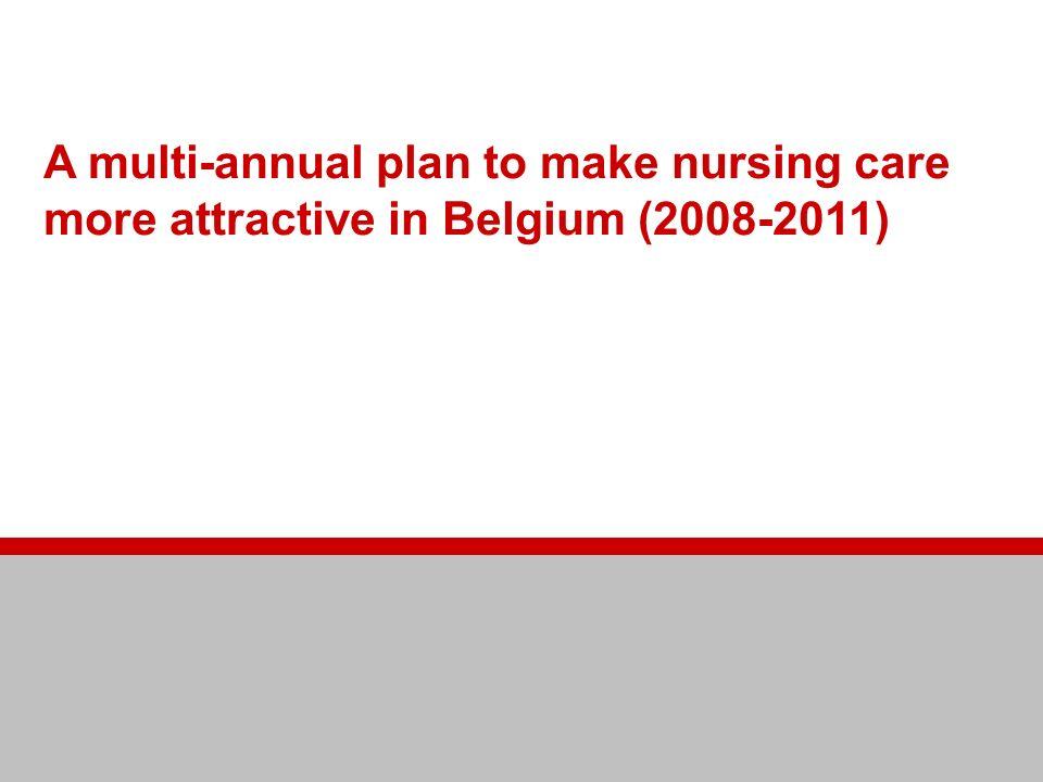 Making nursing care more attractive A multi-annual plan to make nursing care more attractive in Belgium (2008-2011)