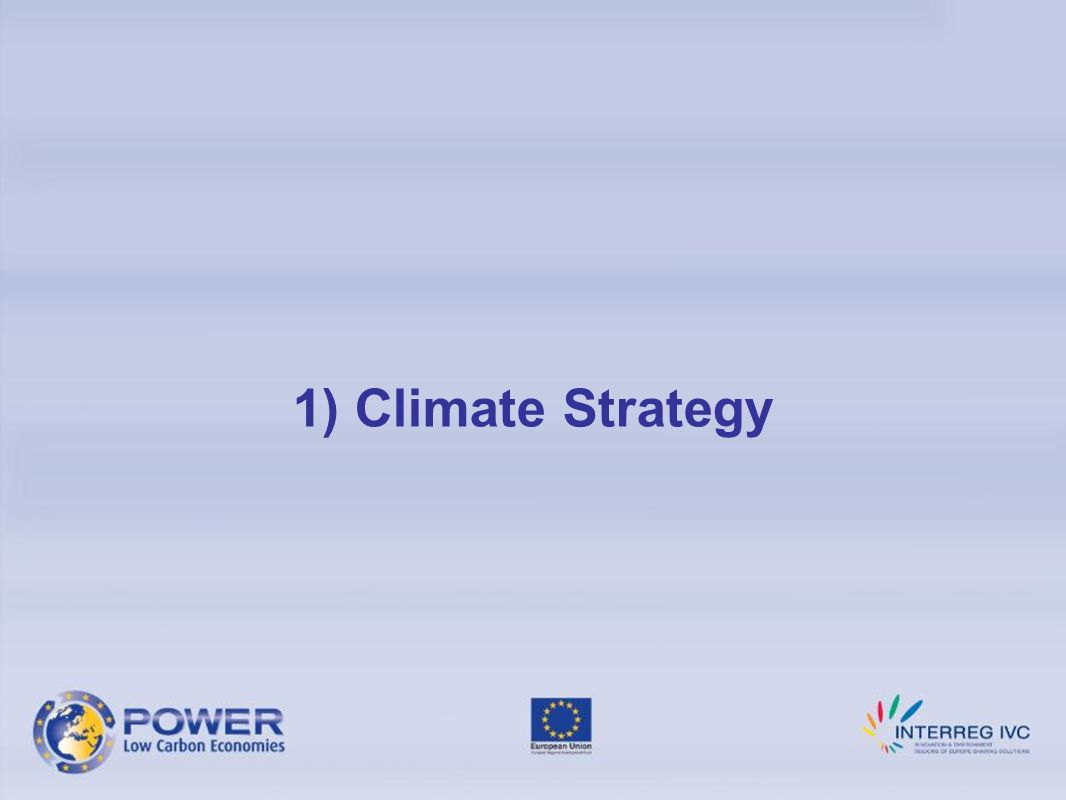 1) Climate Strategy