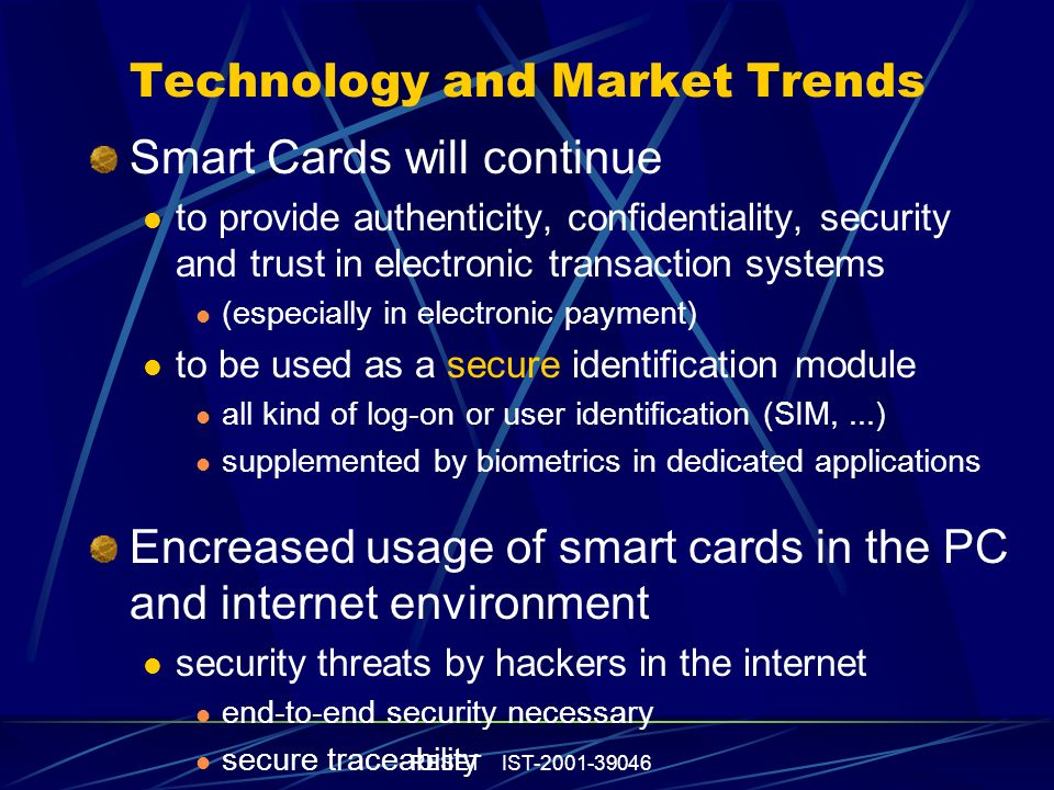 R E S E T Roadmap for European research on Smartcard Technologies WG5: High-end cryptography, tamper-proof and security technologies Dr.