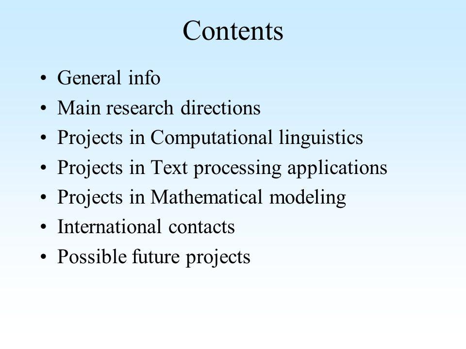 NLP&TP Lab n Since 1996 n 4 doctors n 4 doctoral students n 3 master students n 23 projects n 100+ publications n 1 International Conference