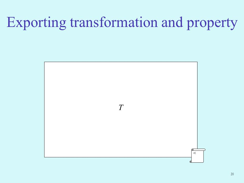20 Exporting transformation and property T