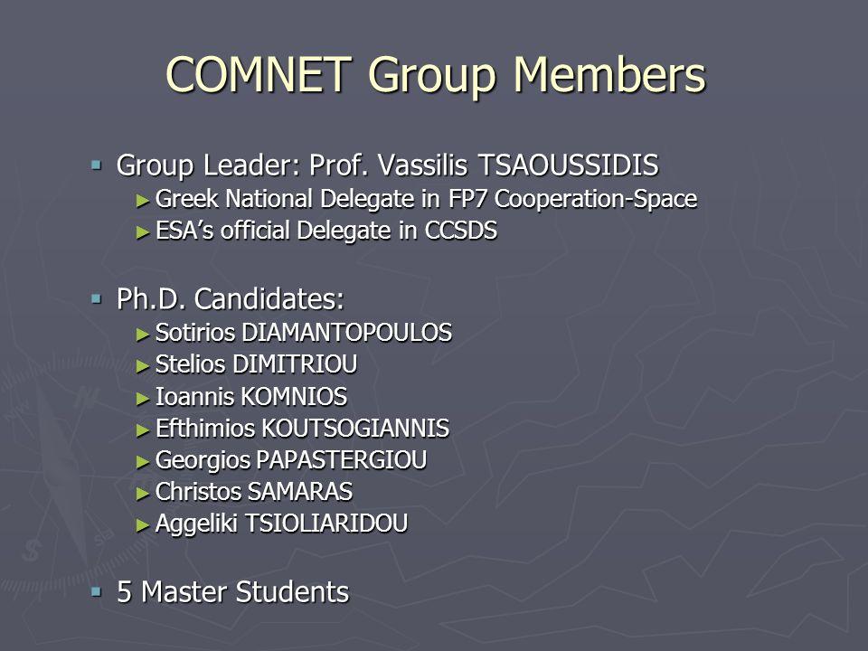 COMNET Group Members Group Leader: Prof. Vassilis TSAOUSSIDIS Group Leader: Prof.