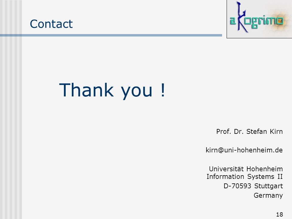 18 Contact Prof. Dr.