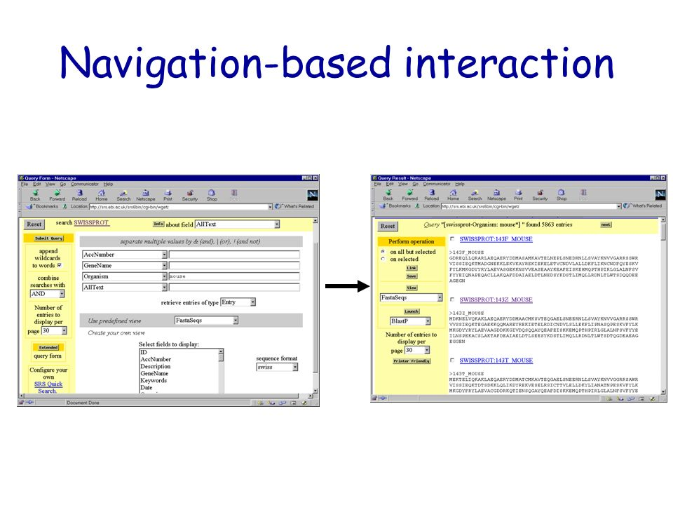 Navigation-based interaction