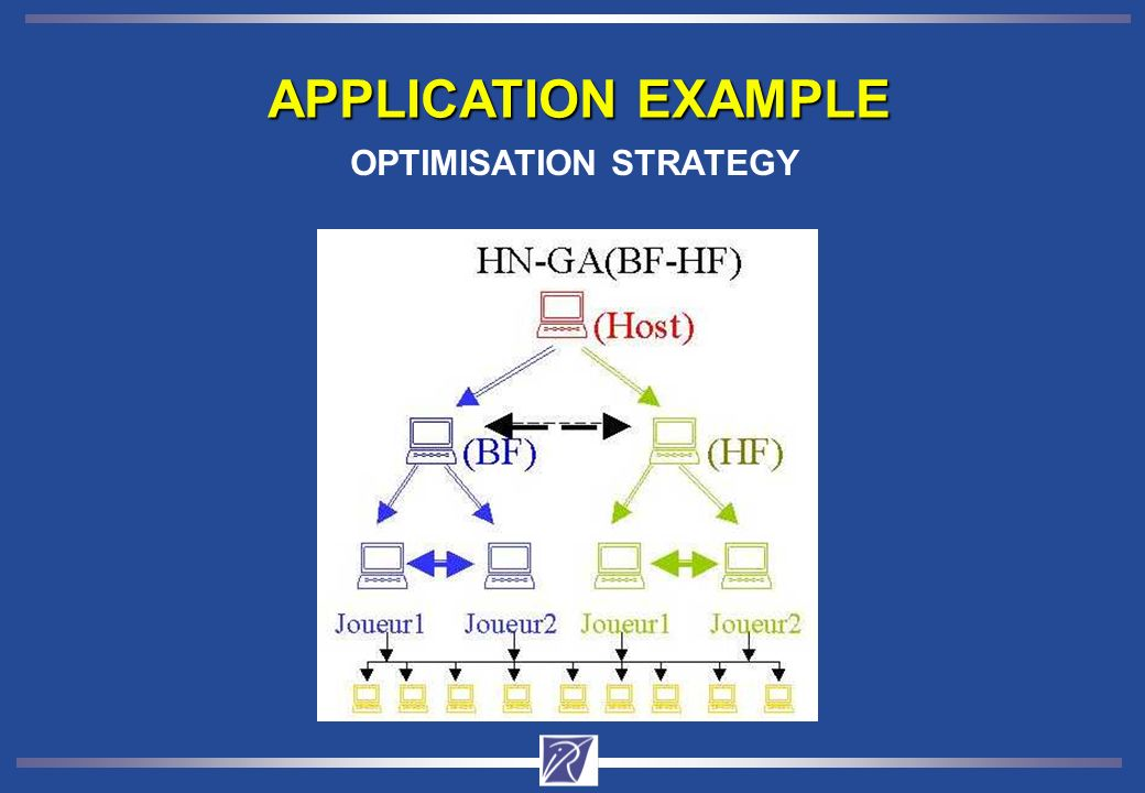 APPLICATION EXAMPLE OPTIMISATION STRATEGY